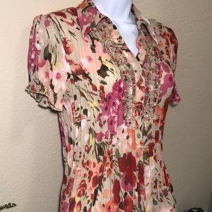 Allison Taylor Tops - Allison Taylor Women's Floral Blouse